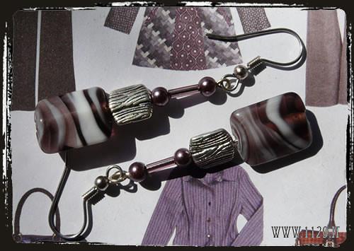 Orecchini viola - Purple earrings IDVIBI