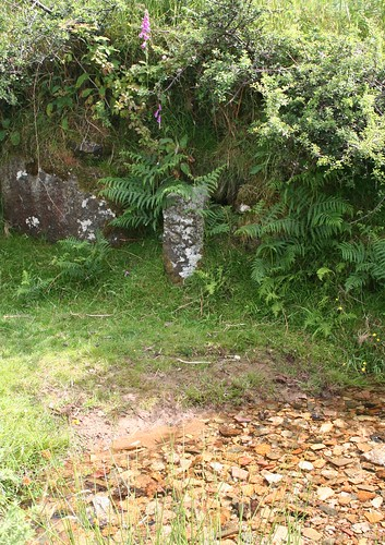 Parish Boundary stone on Grimstone Leat