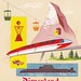 Disneyland Tomorrowland Postcard Folder 1950s
