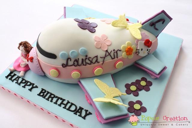 Hello Kitty Plane Cake | for Louisa 2nd birthday she very lo ...