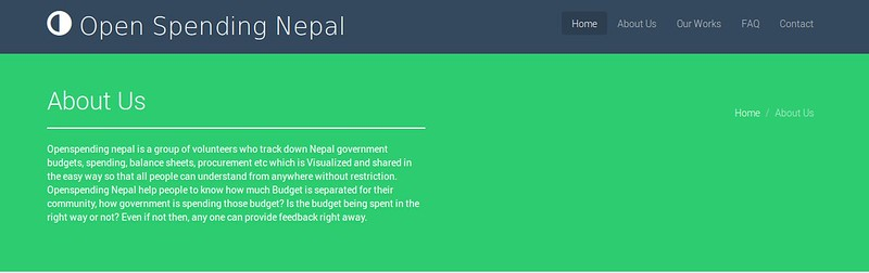About Page of openspendingnepal.org
