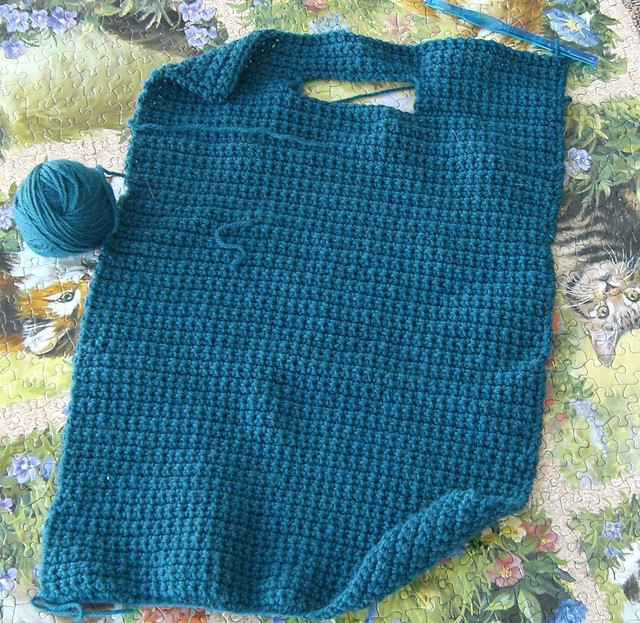 Felted Crochet Bag, Panel 1 This morning, I thought Id ta ...