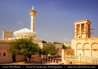 United Arab Emirates - Dubai - Bastakiya quarter with its traditional mosque