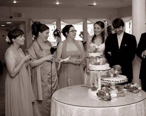 wedding bw anna kara toast val becky valerie cheesecakes lyle