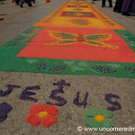 Sawdust Carpet for Semana Santa - Antigua, Guatemala