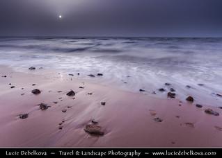 Kuwait - Shuwaikh Beach - Colorless Sunset during Dust Storm