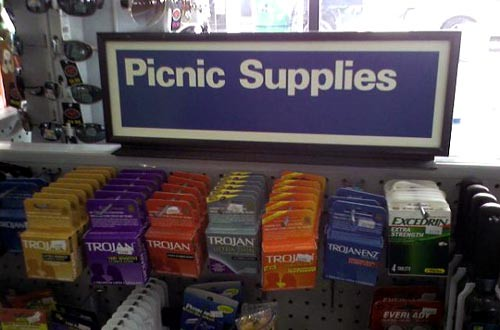 picnic supplies condoms