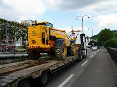 Transport de véhicule de chantier