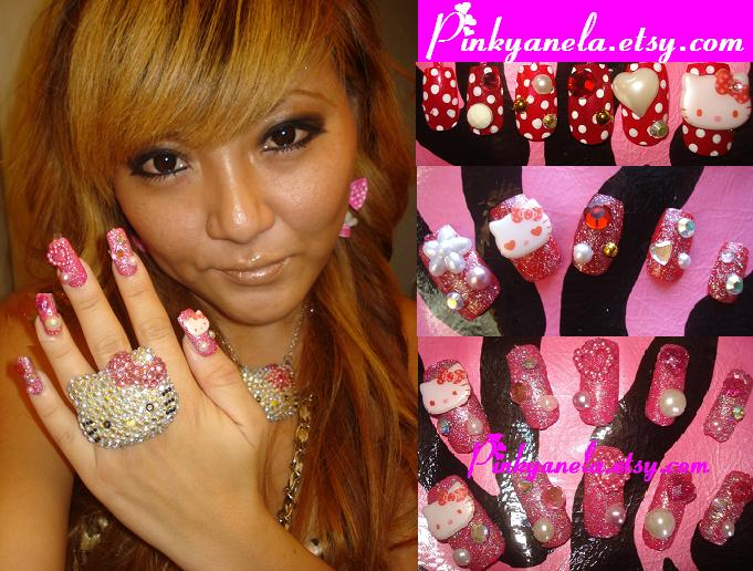 ☆Kawaii Hello Kitty Deco Nails☆ - a photo on Flickriver