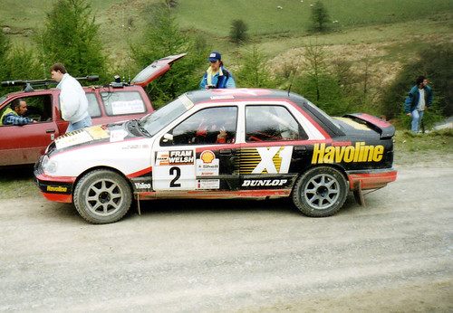 Russell Brookes in a Sierra Cosworth