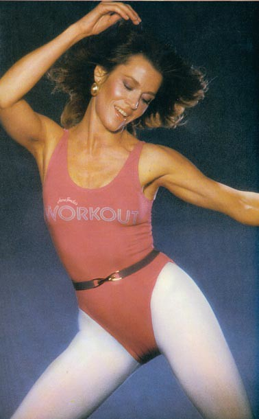 Jane Fonda workout photo