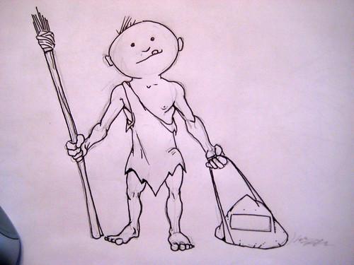 caveman drawing