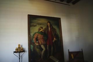 Cristoforo Colombo con figlio