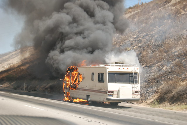 Amazing Fire Destroys Travel Trailer Camper  The Dalles Chronicle