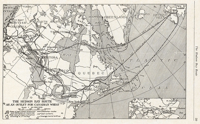 The hudson bay route as an outlet for canadian wheat 1917 for Hudson bay fishing