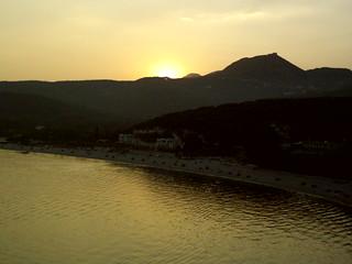 Sunset over Valtos Beach