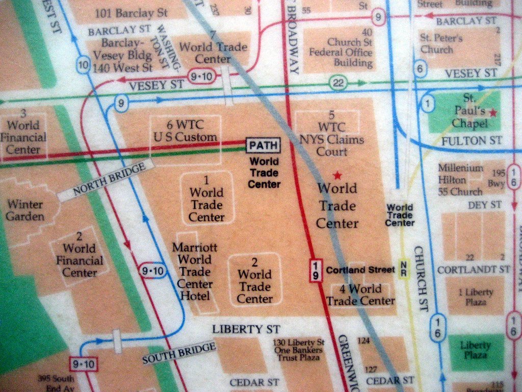 Map Of World Trade Center Before 9 11.Map Of Pre 9 11 Downtown New York Hope Garden Battery Pa Flickr