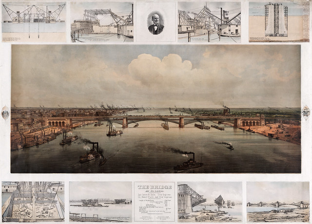 The bridge at St. Louis, Missouri, ca. 1874