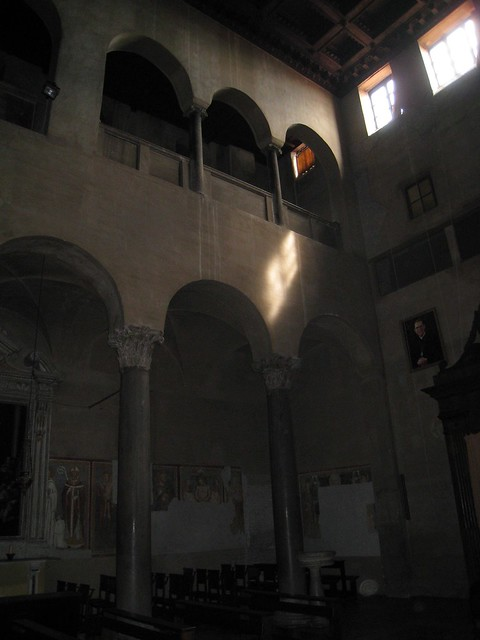 Santi Quattro Coronati - interior looking to west wall