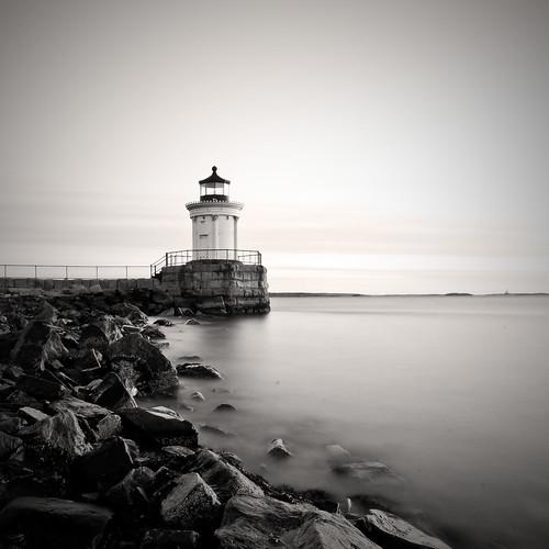 ocean longexposure blackandwhite lighthouse nikon maine moe southportland d300 sigma1020mm ndfilter portlandbreakwaterlight abigfave moe76
