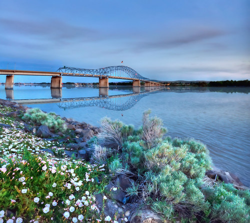 night washington spring northwest dusk columbiariver wa kennewick pasco bluebridge platinumheartaward