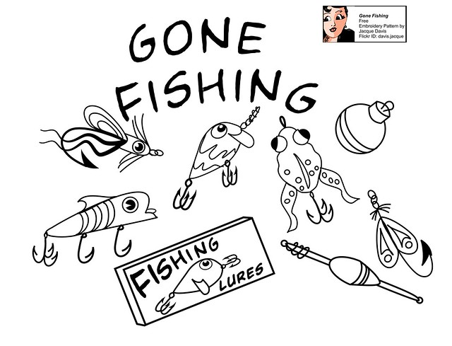 Free Embroidery Pattern Gone Fishing Flickr Photo