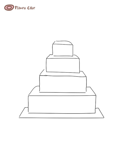 Picture Of A Blank Tiered Cake
