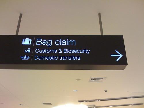 Bag claim