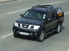 truck(0.0), nissan x-trail(0.0), compact sport utility vehicle(0.0), automobile(1.0), automotive exterior(1.0), pickup truck(1.0), sport utility vehicle(1.0), vehicle(1.0), nissan xterra(1.0), nissan(1.0), bumper(1.0), nissan navara(1.0), land vehicle(1.0),