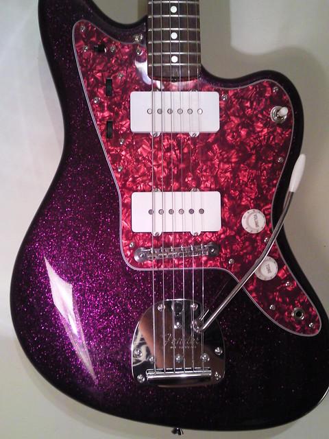j mascis signiture series jazzmaster sparkling purple flickr photo sharing. Black Bedroom Furniture Sets. Home Design Ideas