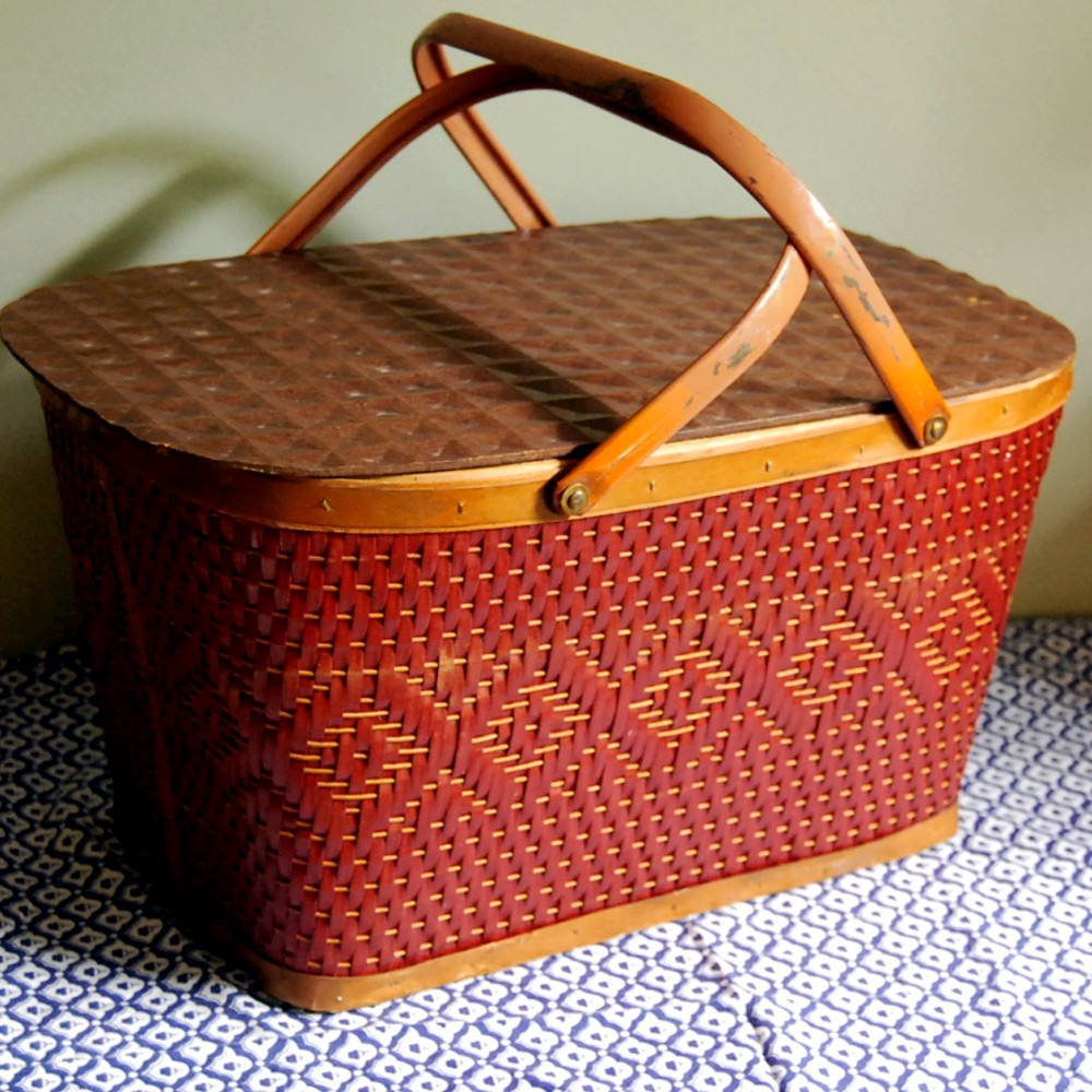 Vintage Picnic Basket by Red Man