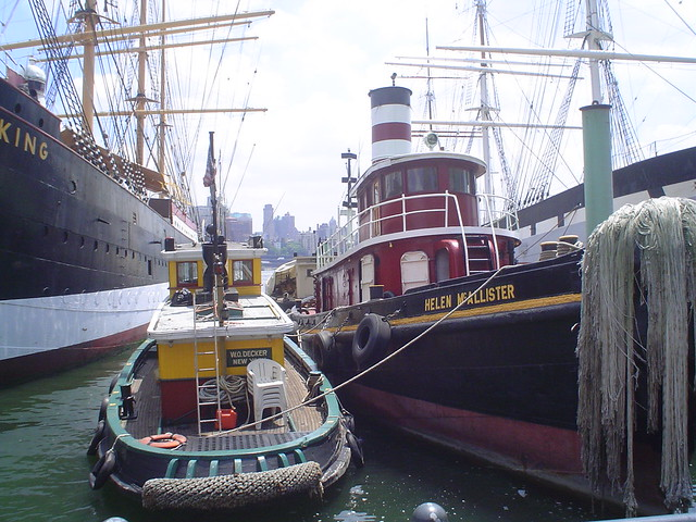 Photo du Port, le Quai 17 (Pier 17), au sud de Manhattan, New York, USA