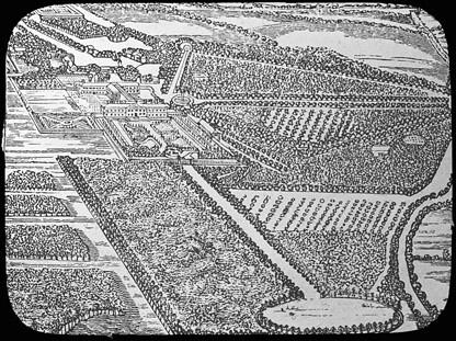 Cashiobury, Lord Essex, Hertfordshire, England (Manning Lantern Slide: 967)