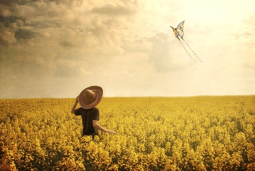 portrait sky kite hat clouds self canon butterfly gold wings sigma enjoy fields 1770 vastness newgrounds 52weeks 400d texturebyborealnz andbesafe