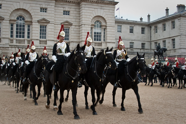 Changing the Queen's Life Guard at Horse Guards Parade