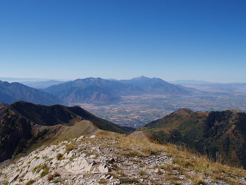 Looking south toward Mount Nebo from Provo Peak.