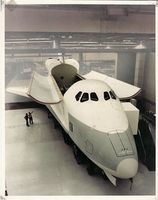 Full-scale mockup of Space Shuttle Orbiter Constitution  (OV-101) 1975 - Donwney, CA