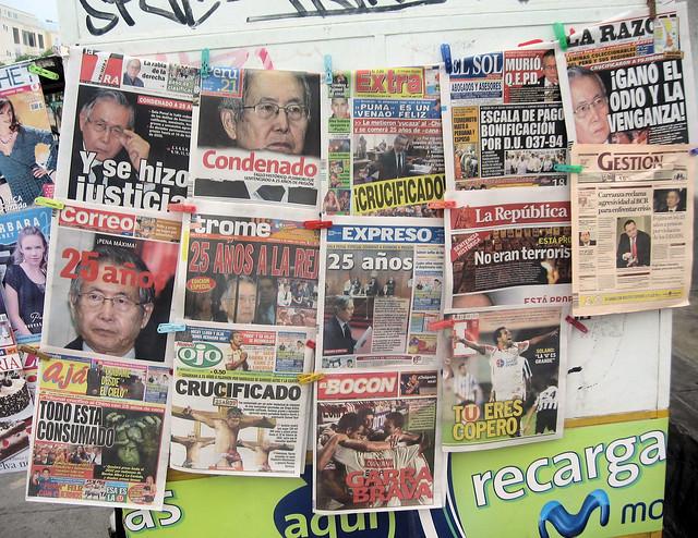 Fujimori: Los titulares de la condena