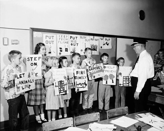 1951 LEWIS AND CLARK SCHOOL - FIRE POSTERS