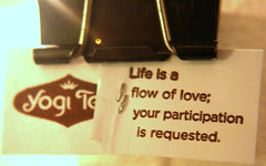 Today, a message from Yogi Tea