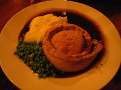 Chicken, Ham and Leek Pie, with Mash