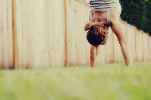 practising handstands at home