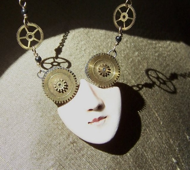 Steampunk Face Pendant
