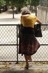 woman in fence