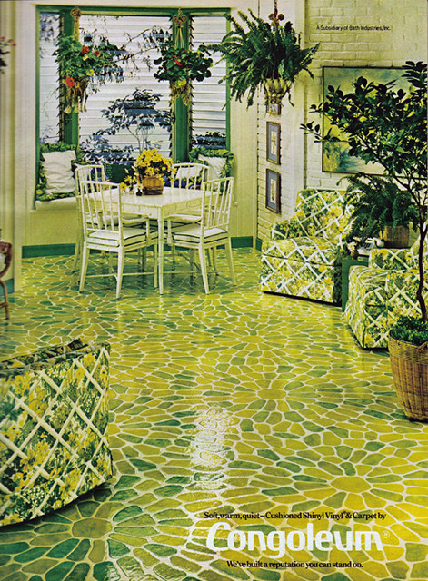 Vintage Ad #842: Congoleum in Lime Green