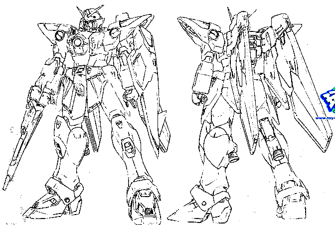 Free coloring pages of gundam for Gundam wing coloring pages