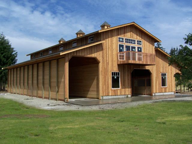 Raised Center Aisle Barn Plans