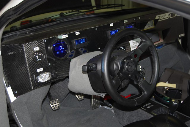 Dashboard for the ZAP Alias Electric Car at PIAXP Shakedown