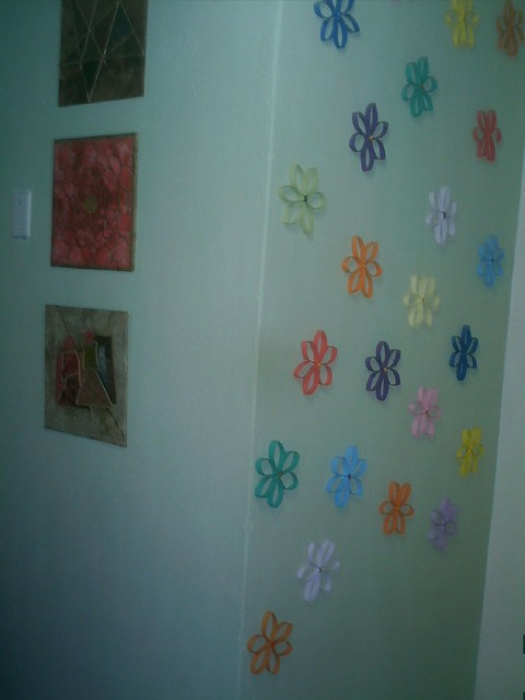 Adesivo De Parede Ursinho Marinheiro ~ flores de rolo de papel higienico!! Flickr Photo Sharing!