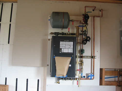 Boiler for radiant heat